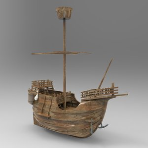 small santa maria boat 3D model