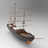 Tall Ship Low-poly 3D model