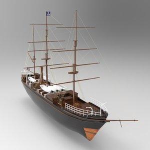 tall ship 3D