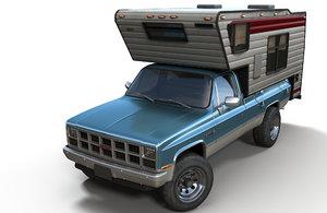 3D gmc sierra 1982 camper