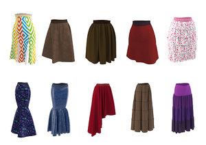skirt shirt real 3D model