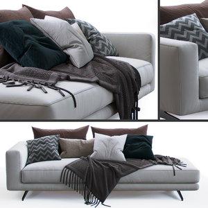 flexform sofa campiello 3D model