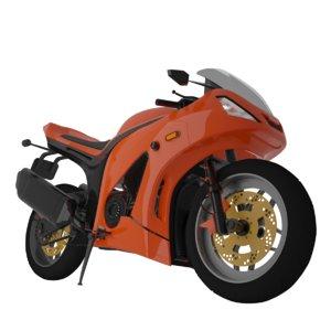 motorbike moto bike 3D model