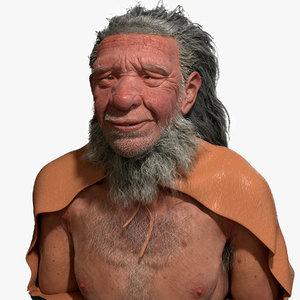 neanderthal bust 3D model