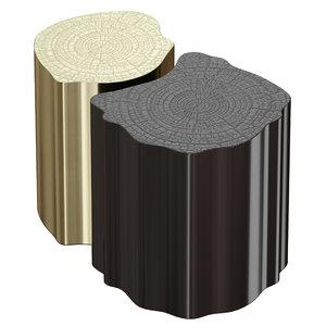 tables leif black brass 3D model