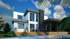 villa architecture 3D model