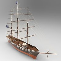 Tall Ship 2 Lowpoly 3D model