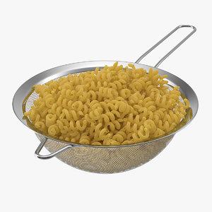 boiled pasta 3D model