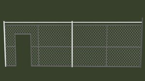 low-poly fences 3D model