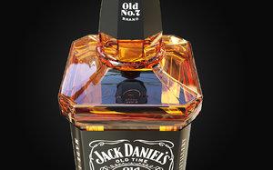 3D model jack daniels bottle