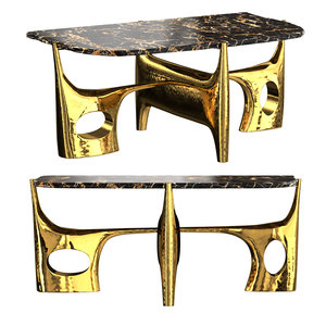 3D philippe hiquily coffee table model