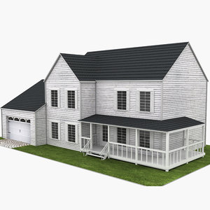 house neighborhood 3D model