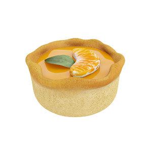 3D model cake tangerine jelly