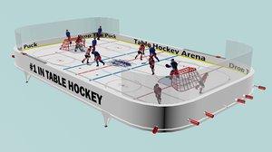 3D model table hockey