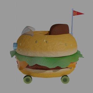 hamburger car 3D model