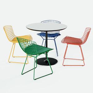 knoll bertoia chair arper 3D model