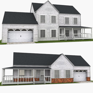 3D neighborhood houses model
