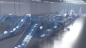 3D conveyor plastic waste