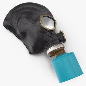 gas mask lying 3D model