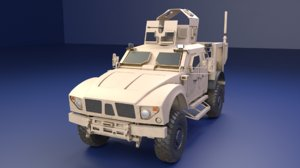 3D oshkosh m-atv military vehicle