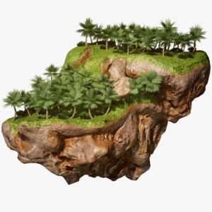 floating island wild 3D model