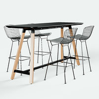 Knoll Bertoia Barstool and Rockwell Unscripted Tall Table