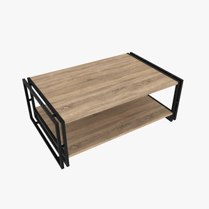 modeled wood 3D