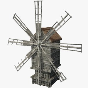 3d model of windmill ready games