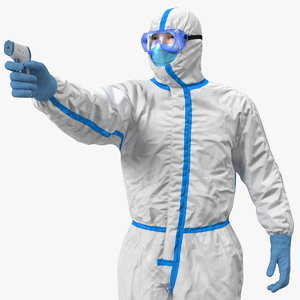 3D model man disposable medical protective