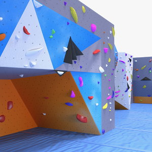 big bouldering climbing wall model