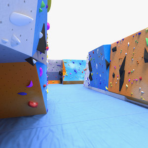 3D climbing bouldering wall sports