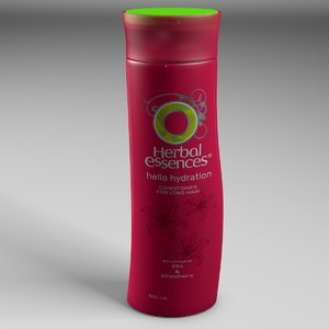 3D herbal essences shampoo bottle model
