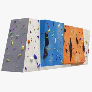 3D small bouldering climbing wall