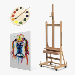 artist supplies art 3D model
