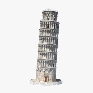 3D leaning tower pisa model
