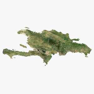 relief haiti dominican republic 3D model
