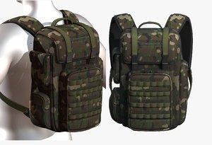 3D bag backpack model