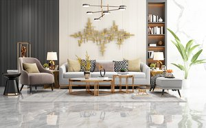 3D living furnishes