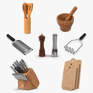 3D kitchenware 3 kitchen