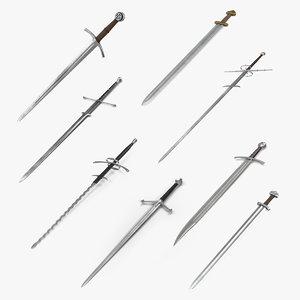 3D model medieval swords 2