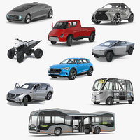 Rigged Concept Cars Collection 3