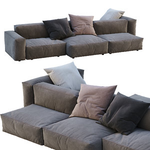 3D model flexteam sofa reef