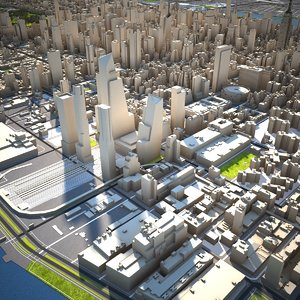 3D nyc city buildings model