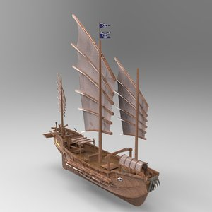 3D renaissance ships model