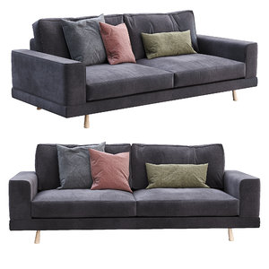 3D model felis sofa aspen