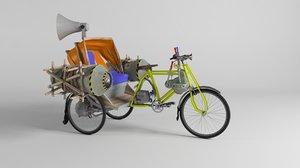 super rickshaw 3D model