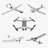 Small Military UAVs Rigged 2 Collection