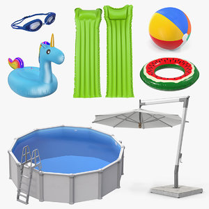 3D swimming pool accessories 4