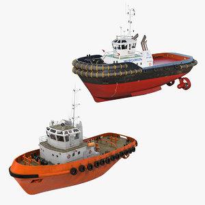 3D tug boats model