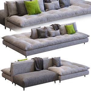 3D bonaldo sofa avarit model